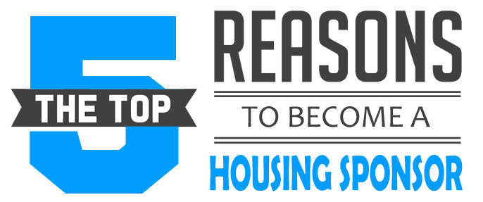 Top 5 reasons to become a housing sponsor
